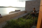 Aliya on watering duty